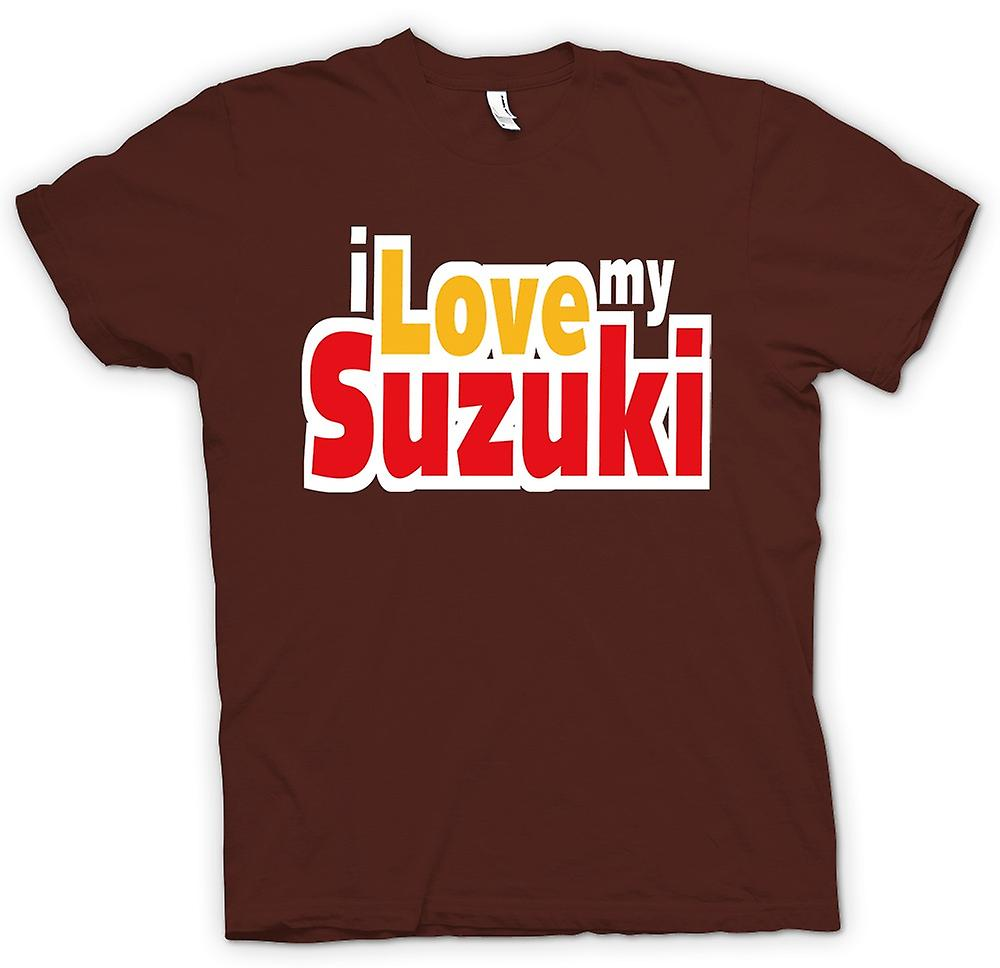Mens T-shirt - I Love My Suzuki - Car Enthusiast