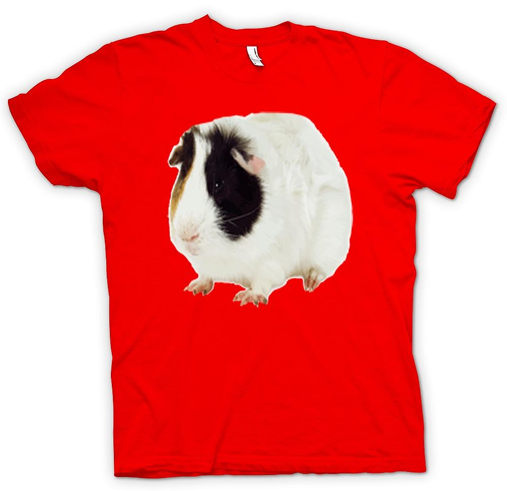 Mens T-shirt - Guinea Pig White and Brown Women