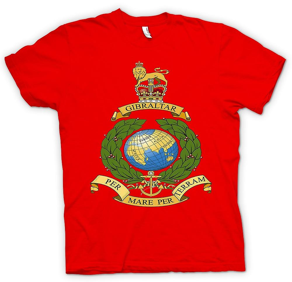 Mens T-shirt - Royal Marine Logo - Per Mare Per Terram