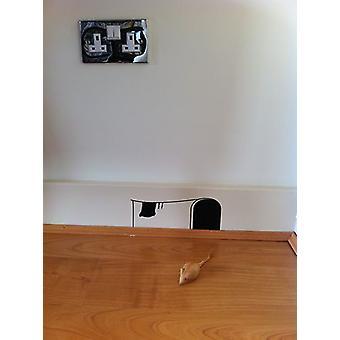 Micky's etiqueta de la pared agujero de ratón de la casa