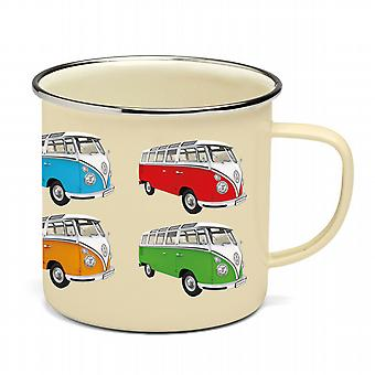 Offizielle VW Camper Van Emaille Tin Mug - Multi-Color-