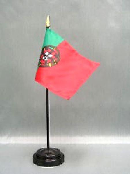 Portugal Table Flag with Stick & Base