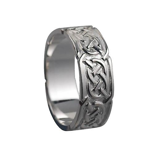Silver 8mm Celtic Wedding Ring Size Z+1