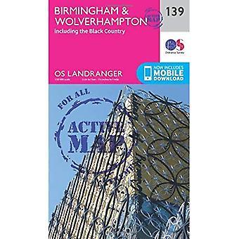 Birmingham & Wolverhampton (OS Landranger Map)