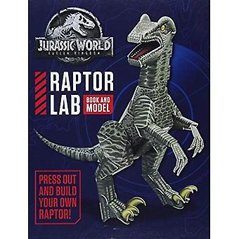 Jurassic World Fallen Kingdom Raptor Lab: Book and Model