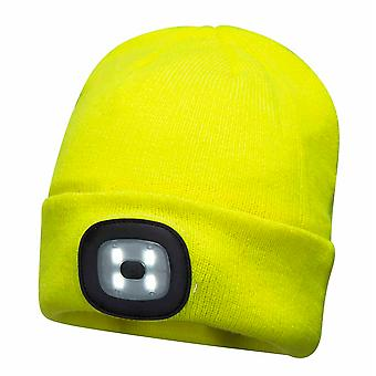 Portwest - Unisex USB Rechargeable Twin LED Head Light Beanie