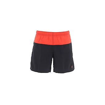 Alexander Mcqueen Black/red Nylon Trunks