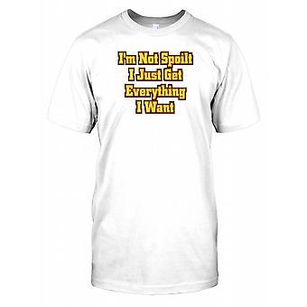 Ich bin nicht verwöhnt, ich mach alles was ich will - lustige Witz-Kinder-T-Shirt