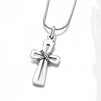 Cavendish French Silver Cut Out Cross Pendant without Chain