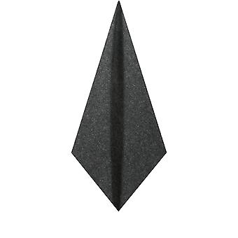 Dobell Mens Grey Donegal Tweed Pocket Square Handkerchief Wool Blend