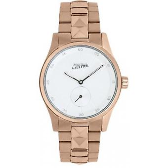Shows Jean-Paul Gaultier 8505201 - steel Dor Rose dial white woman