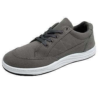 BXT Urban Men's Casual Fashion Canvas Trainers Grey