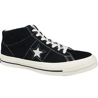Converse One Star Ox Mid Vintage Suede 157701C Mens plimsolls