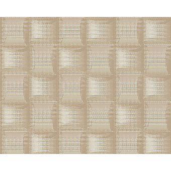 A.S. skapande som Creation Square mönster 3D stripe effekt texturerat icke vävda tapeter 961801