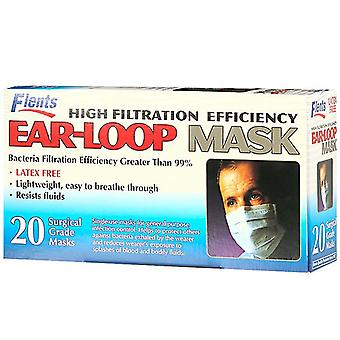 Flents high filtration efficiency, ear-loop mask, 20 ea