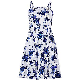 Louche Kami Print Dress White/Blue