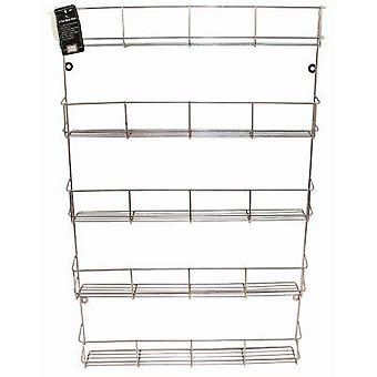 Chrome 5 Tier Spice Rack Kitchen Jar Holder Wall Cupbord Storage Shelf