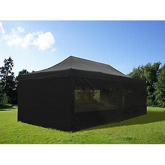 Tente Pliante FleXtents Easy up pavillon PRO Telthal 4x8m Noir, avec 6 cotés
