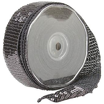 Carrés paillettes garniture 40 Mm X 15,95 Yards gris 9801 40 38
