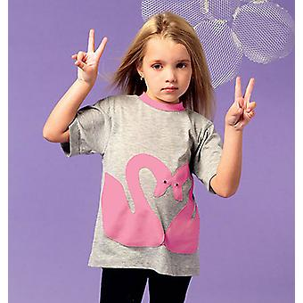 Girls Boys' Girls' Tops And Appliques  2  3  4  5 Pattern M6691  Cdd