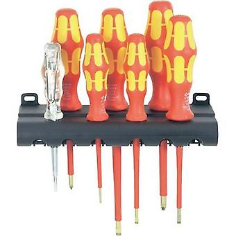 VDE Screwdriver set 7-piece Wera 160I/7 Rack Slot, Phillips