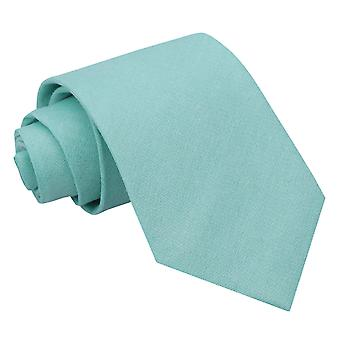 Light Turquoise Chambray Cotton Regular Tie