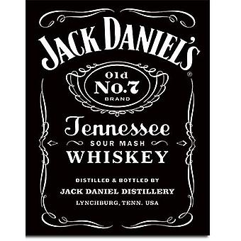 Jack Daniels Black Label metal ondertekenen 420 x 310 mm (de)