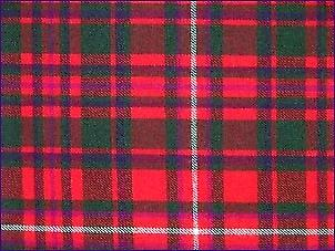 MacKinnon Red, Modern - Pure Wool Tartan