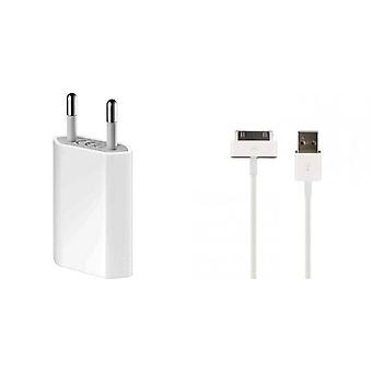 Originale Apple MD813ZM USB makt adapter A1400 bulk MA591G/C lader, iPhone 3 G 4 4 S, iPod, iPad