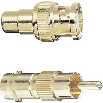 BNC / RCA Adapter [1x BNC plug - 1x RCA socket (phono)] Gold gold plated connectors Oehlbach