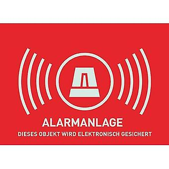Warning label Alarm secured Languages German (W x H) 148 mm x 105 mm ABUS AU1322