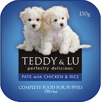 Teddy & Lu komplet Pate hvalp kylling & ris 150g (Pack af 24)