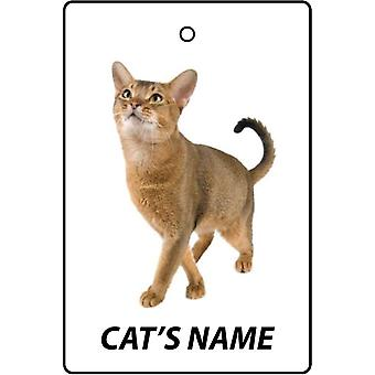 Personalised Abyssinian Cat Car Air Freshener