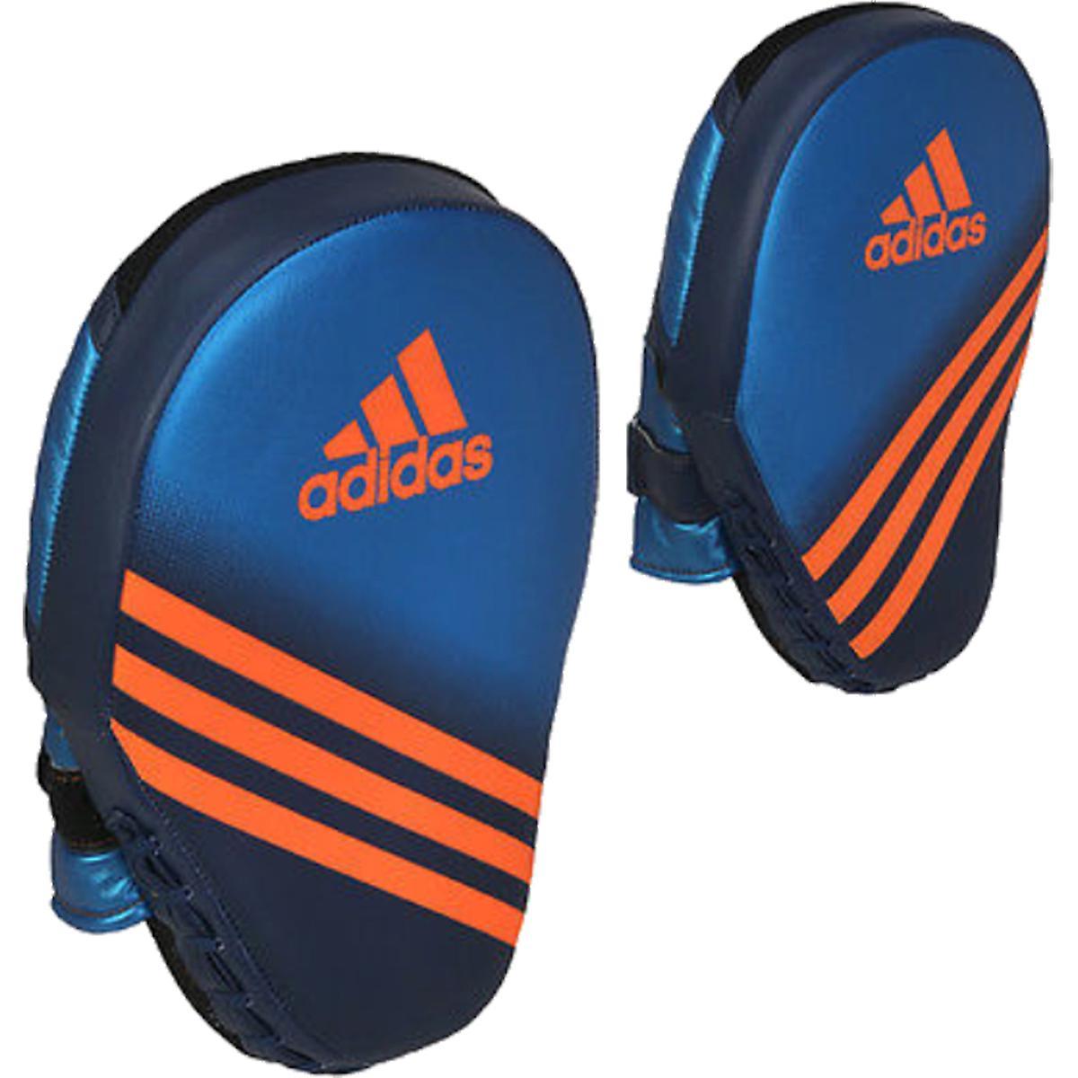 Adidas Curved Speed Training Foucs Mitt - Metallic Blue/Collegiate Navy