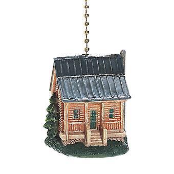 Cabaña rústica lámpara de ventilador de techo decorativo tire 3 Dimensional