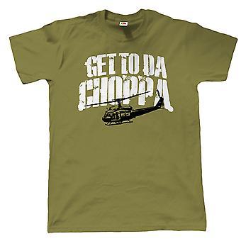 Get To Da Choppa, Mens Funny T-Shirt