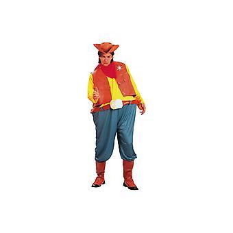 Cowboy kostume tyk Cowboy Western kostume Herre Gr. L