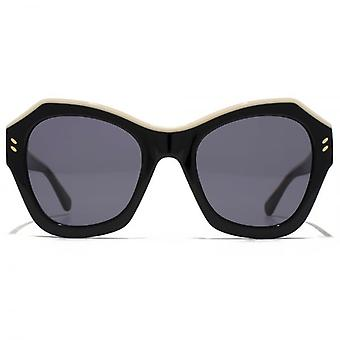 Stella McCartney Iconic Two Tone Geometric Sunglasses In Black
