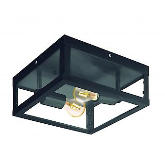 Eglo Alamonte1 2 Light IP44 Ceiling Light Black
