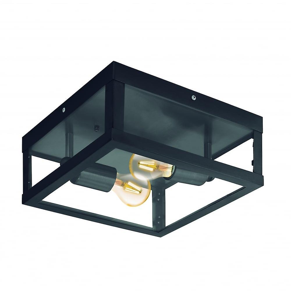 Eglo Alamonte1 2 lumière IP44 Ceiling lumière noir