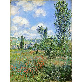 Claude Monet - pad in Ile Saint Martin Vetheuil Poster Print Giclee