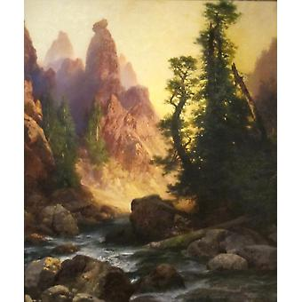 Thomas Moran - Below the Towers Poster Print Giclee
