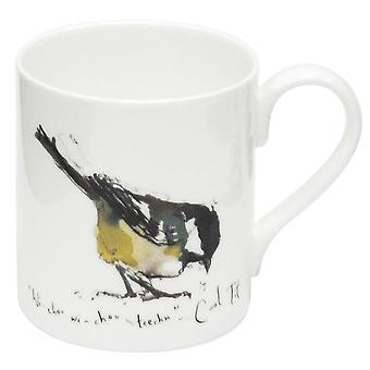 Madeleine Floyd Coal Tit Bone China Mug