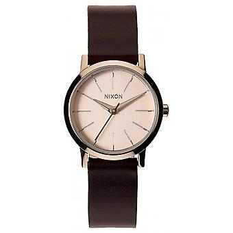 Nixon The Kenzi Leather Watch - Rose Gold/Brown