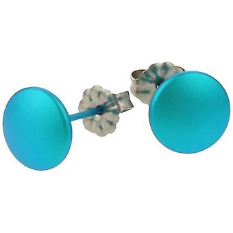 Ti2 Titanium Smartie Stud Earrings - Kingfisher Blue
