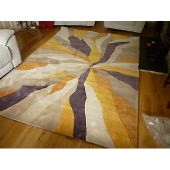 Infinite  Splinter Ochre  Rectangle Rugs Funky Rugs