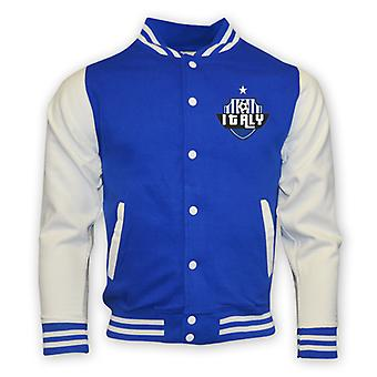 Italy College Baseball Jacket (blue) - Kids