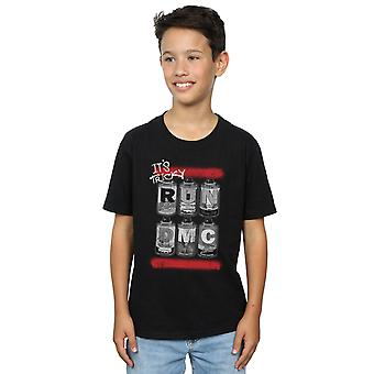 Run DMC drenge Spray dåser T-Shirt