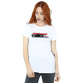 Disney Women's Cars Jackson Storm Stripes Boyfriend Fit T-Shirt