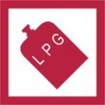 W4 LPG Square Sticker